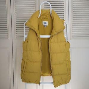 Old Navy Mustard Colored Vest (polar inside) M